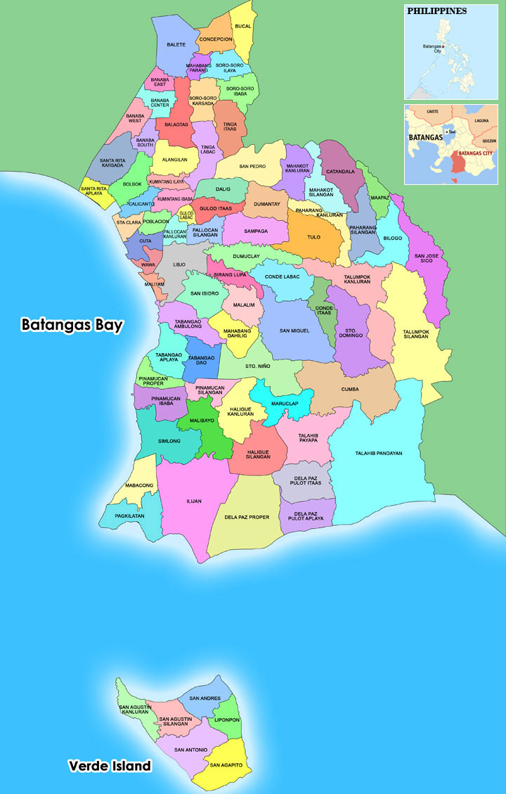 Batangas City Official Website Batangas City Map